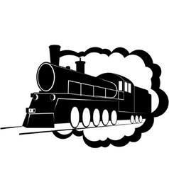 Old steam locomotive-3 vector image