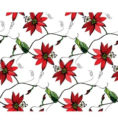 Passiflora pattern2 vector image vector image
