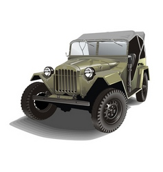 Russian army jeep vector image