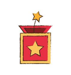 surprise box star april fools image vector image