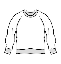 Abstract sweatshirt sketch for your design vector image