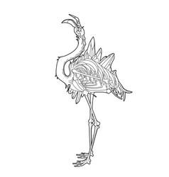 graphic demonic flamingo vector image