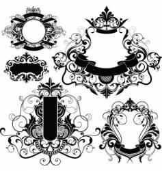 heraldry graphics vector image