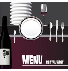 Menu for restaurant design vector image vector image