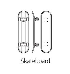 modern skateboard desk vector image