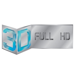 3D full hd logo vector image