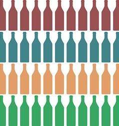 Bottle silhouette color vector image