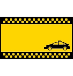 yellow cab background with taxi car vector image