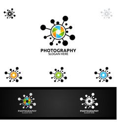 Abstract splash camera photography logo icon vector