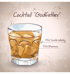 Alcoholic Cocktail Godfather vector
