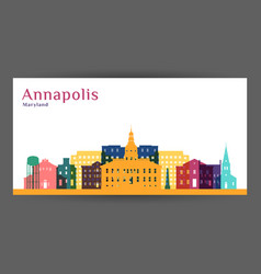 annapolis city architecture silhouette vector image