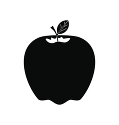 Apple icon black vector