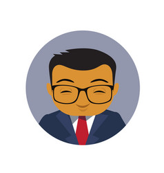 Asian business man profile icon chinese vector