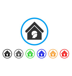Barrack building rounded icon vector
