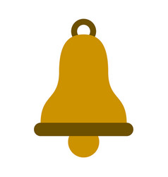 bell isolated symbol vector image