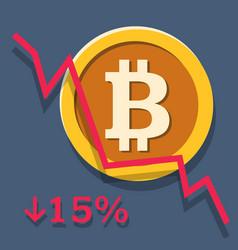 Bitcoin depreciation chart vector