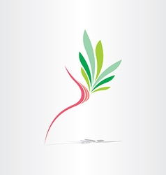 Breast cancer healthy breast icon vector