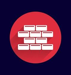 brick wall icon button logo symbol vector image