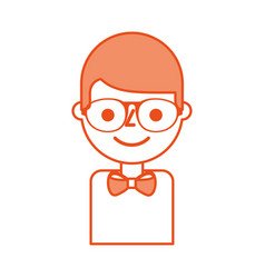 business young man character with glasses vector image