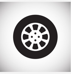 Car wheel on white background for graphic and web vector