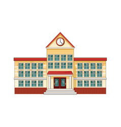 cartoon school building cartoon education vector image