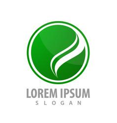 circle green swoosh logo concept design symbol vector image
