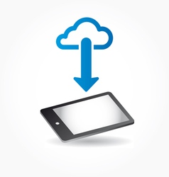 cloud app icon on mobile phone vector image