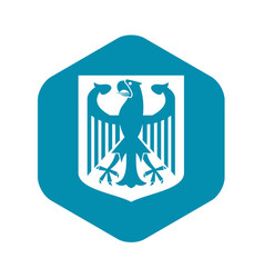 coat arms germany icon simple style vector image