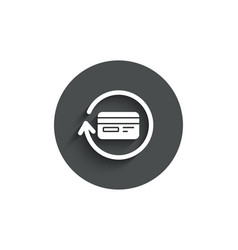 Credit card simple icon cashback service vector