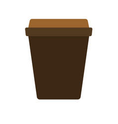 cup hot tea coffee simple food icon in trendy vector image