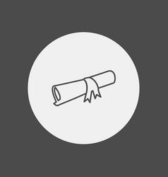 diploma icon sign symbol vector image
