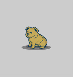 dog on grey background vector image