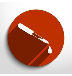 dropper web icon vector image