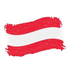 flag of austria grunge abstract brush stroke vector image