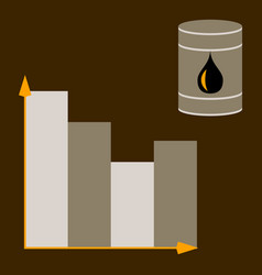 flat icon on theme arabic business oil chart vector image