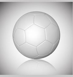 football ball soccer ball mockup with reflection vector image