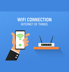 free wifi connection internet vector image