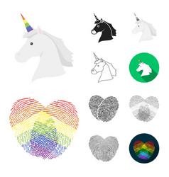 gay and lesbian cartoonblackflatmonochrome vector image