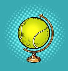 Globe international tennis ball sports equipment vector