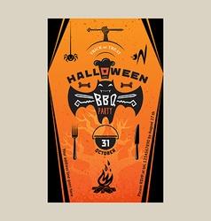 Halloween BBQ vector image