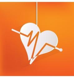 Heart rhytm cardiogramm medical icon vector