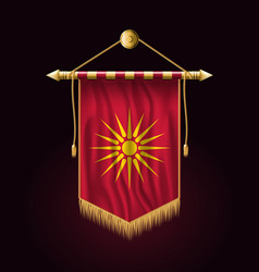 Historical flag of republic of macedonia festive vector