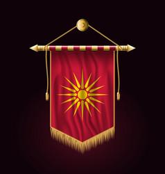 Historical flag republic macedonia festive vector