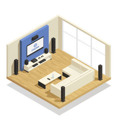 Home theater isometric vector