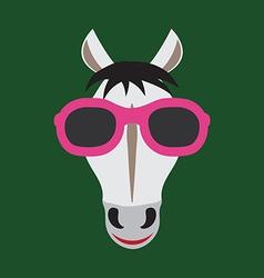 Horse glasses vector