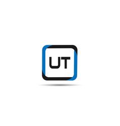 initial letter ut logo template design vector image