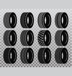 isolated tire or wheel for truck or bus vector image