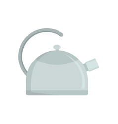kitchen kettle icon flat style vector image