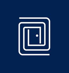 labyrinth door logo vector image