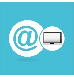 Laptop mail network icon vector